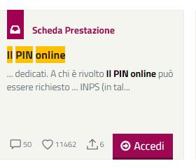 pin inps smarrito